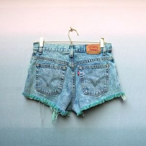 Vintage Levi's Distressed Dyed High Rise Shorts 10